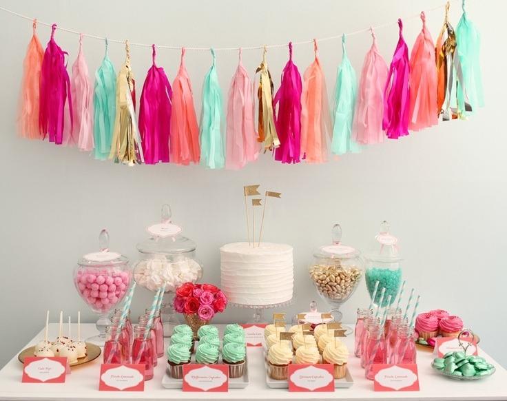 Guirnalda para decorar fiesta boda xv a os bautizo mesa Cosas de decoracion para casa baratas