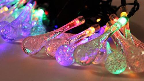 guirnalda solar luces led 30 lágrimas, navidad decoración