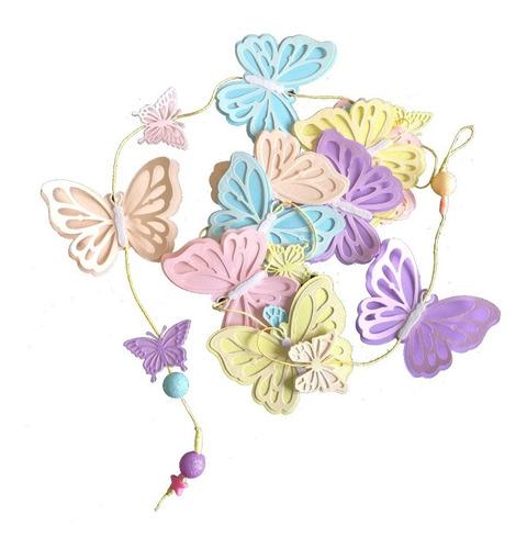 guirnalda vertical mariposas para decoración de fiestas
