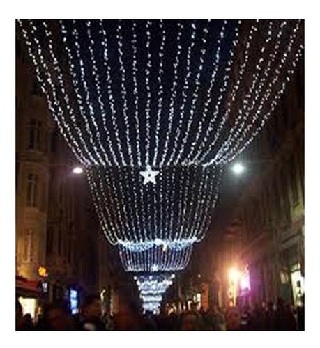 guirnaldas 100 luces 9 metros led blanco frio 220v navidad