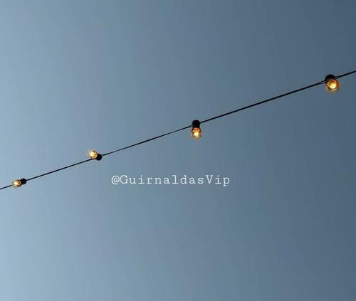 *guirnaldas de luces 10 metros + 10 focos kermés de regalo