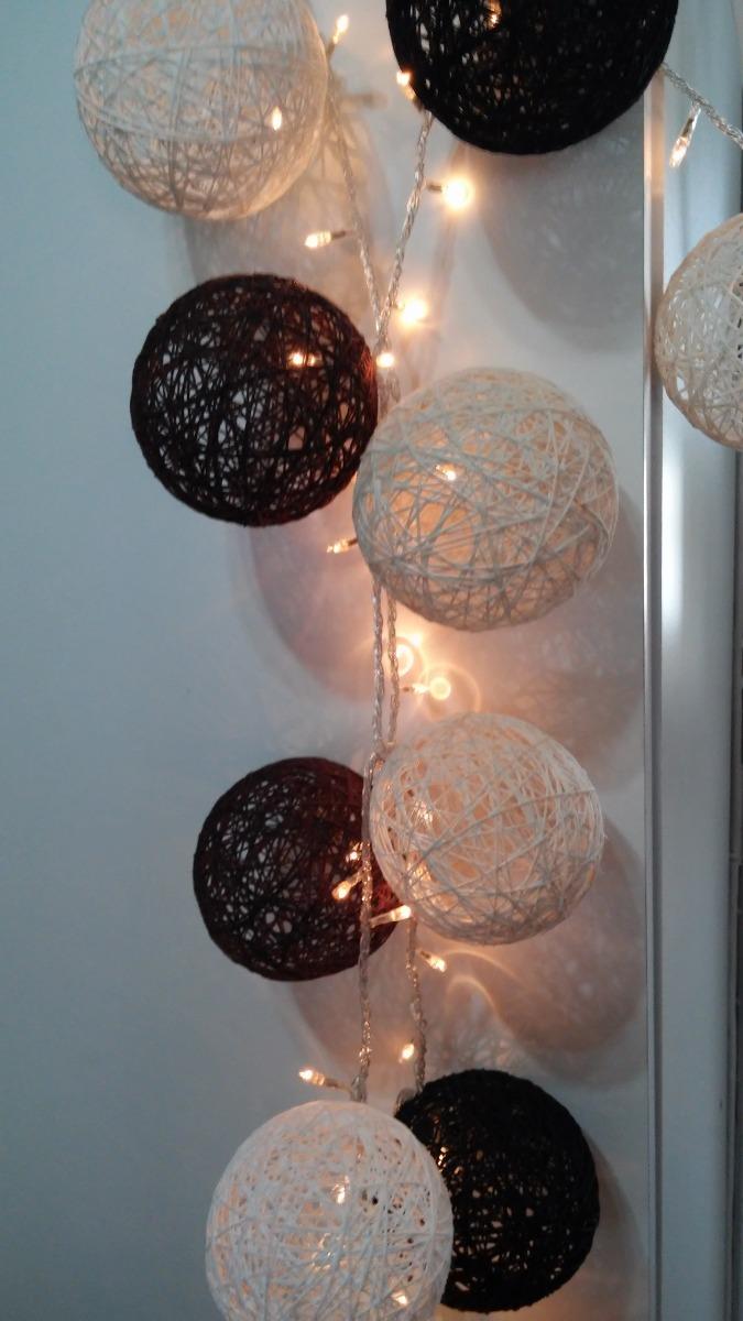 Guirnaldas De Luces Con Bolas De Hilo 480 00 En Mercado Libre