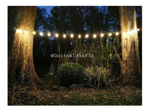 guirnaldas de luces con focos lampara inclu. exterior 220v