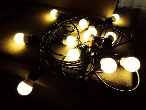 guirnaldas de luces, ideal para decorar exteriores.