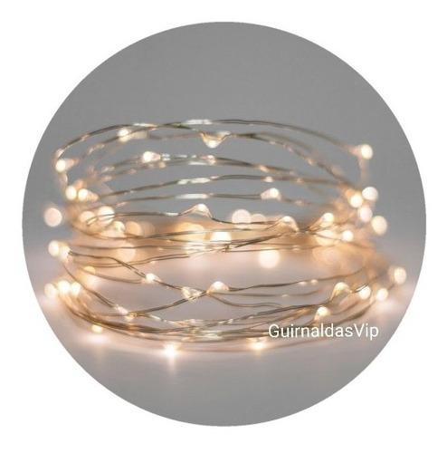 guirnaldas de luces microled alambre a pilas navidad