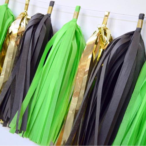 guirnaldas de papel color lima para fiestas bodas