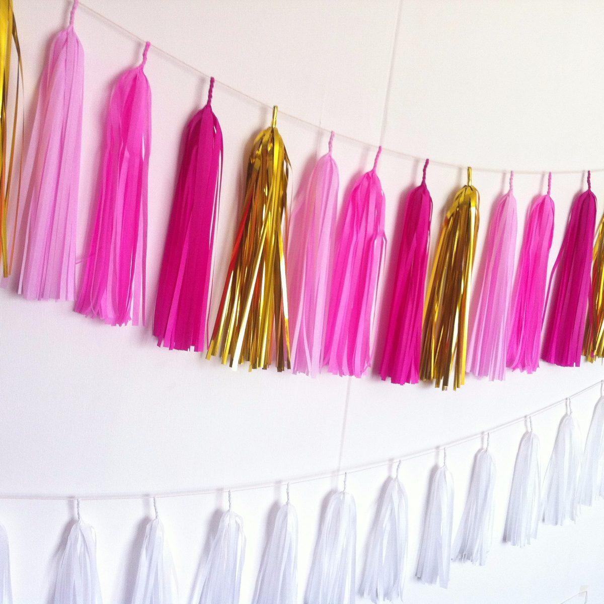 Guirnaldas de papel tama o grande decoraci n tassel - Decoracion de guirnaldas ...