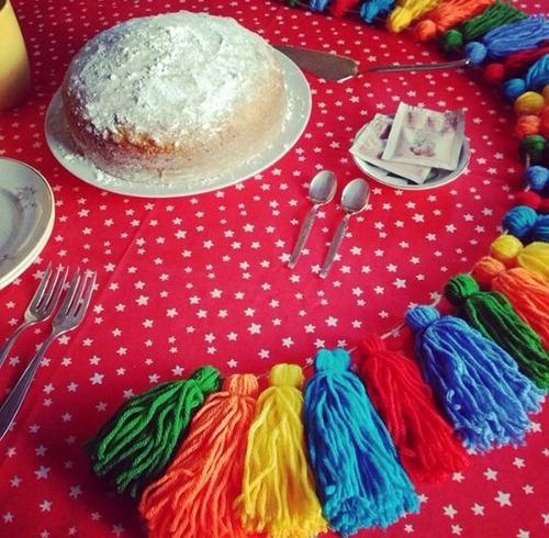 guirnaldas festivas - la polquita deco - papel, tela o lana