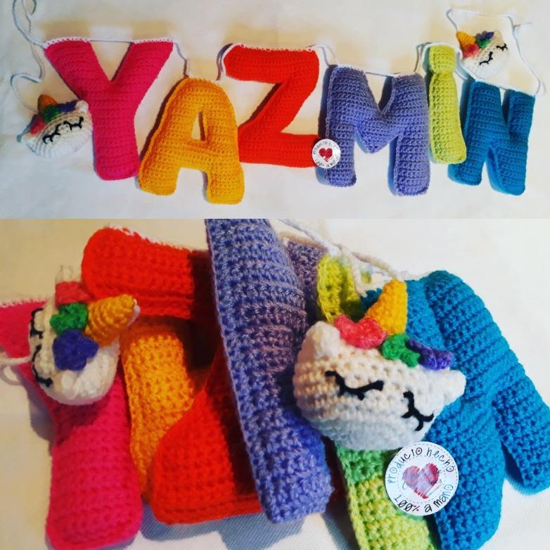 Guirnaldas. Letras Tejidas Al Crochet. - $ 55,00 en Mercado Libre