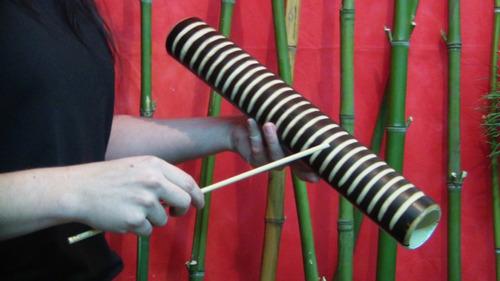 güiro de bambú - bamboo guiro - nektar raspador