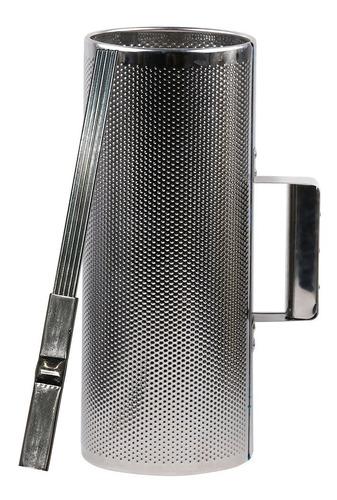 guiro g004 grande 33x12cm metal con raspador - oddity