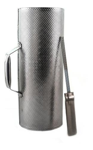 guiro metal con raspador 32x10cm - oddity