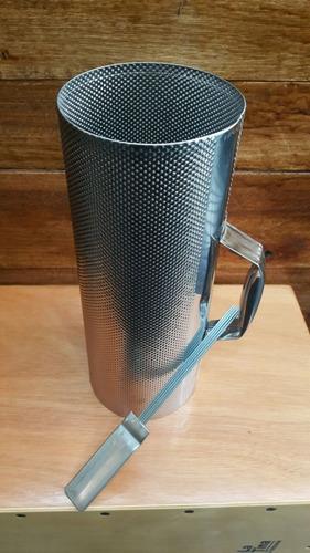 guiro metalico artesanal guira grande c/ peine