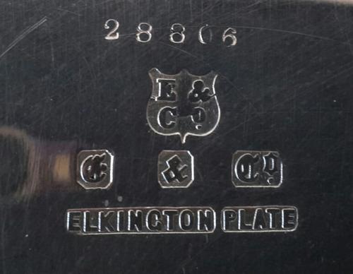 guisera de plata sellada y numerada,  marca elkington plate