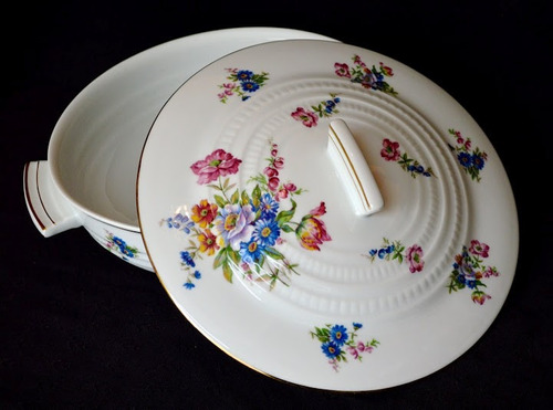 guisera porcelana chapus freres limoges france flores oro