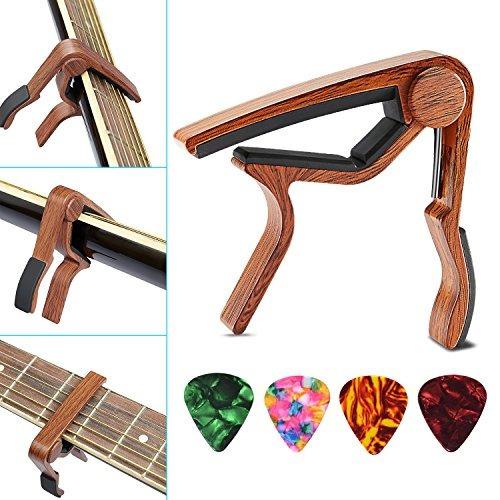 guitar capo paquete de 2 skl ukulele capo wood abrazadera d
