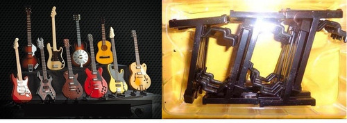 guitar collection miniatura base pedestal guitarra e violao