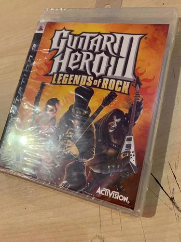 guitar hero 3 legends of rock ps3 sellado!