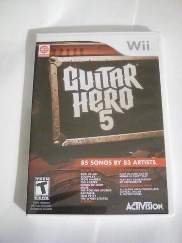 guitar hero 5 , nintendo wii