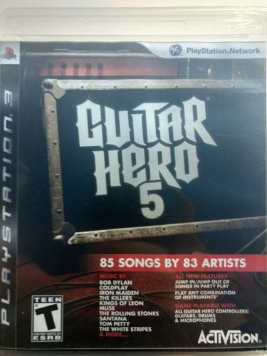 guitar hero 5 para ps3!!!