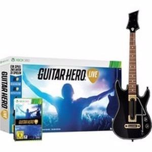 guitar hero live bundle - xbox 360 guitarra + jogo + brinde