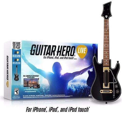 guitar hero live iphone, ipad y ipod touch entrega inmediata