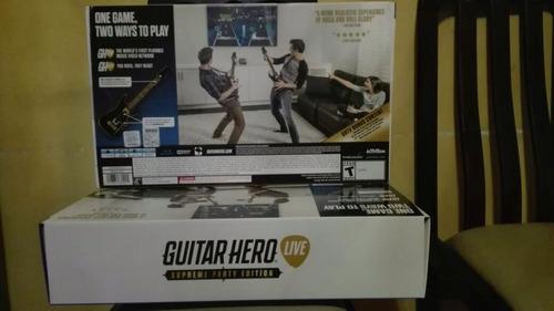 guitar hero live ps4,2 guitarras + juego nuevo sellado