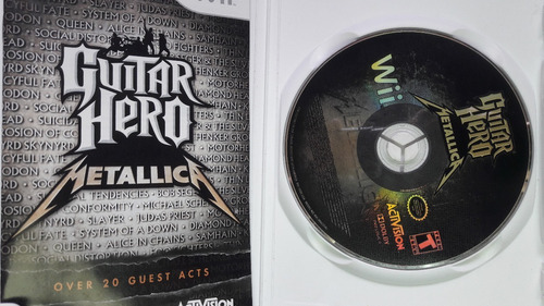 guitar hero metallica + fifa 12 (wii) originales