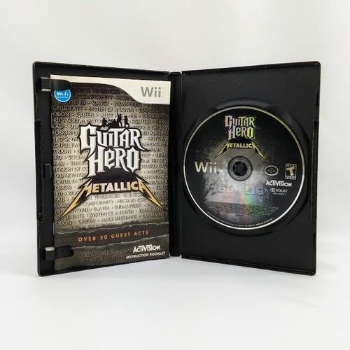 guitar hero metallica - nintendo wii original - capa manual