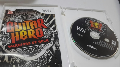 guitar hero nintendo wii
