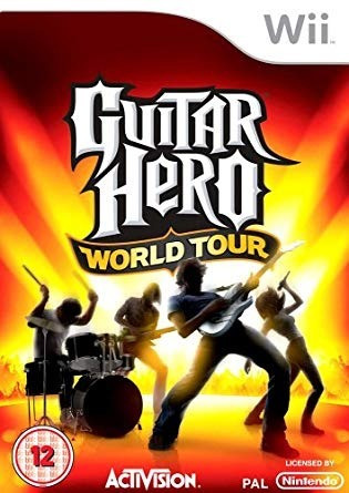 guitar hero world tour juego y guitarra