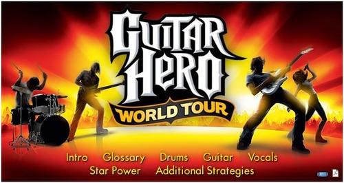 guitar hero: world tour - xbox 360 ¡fisico-usado!