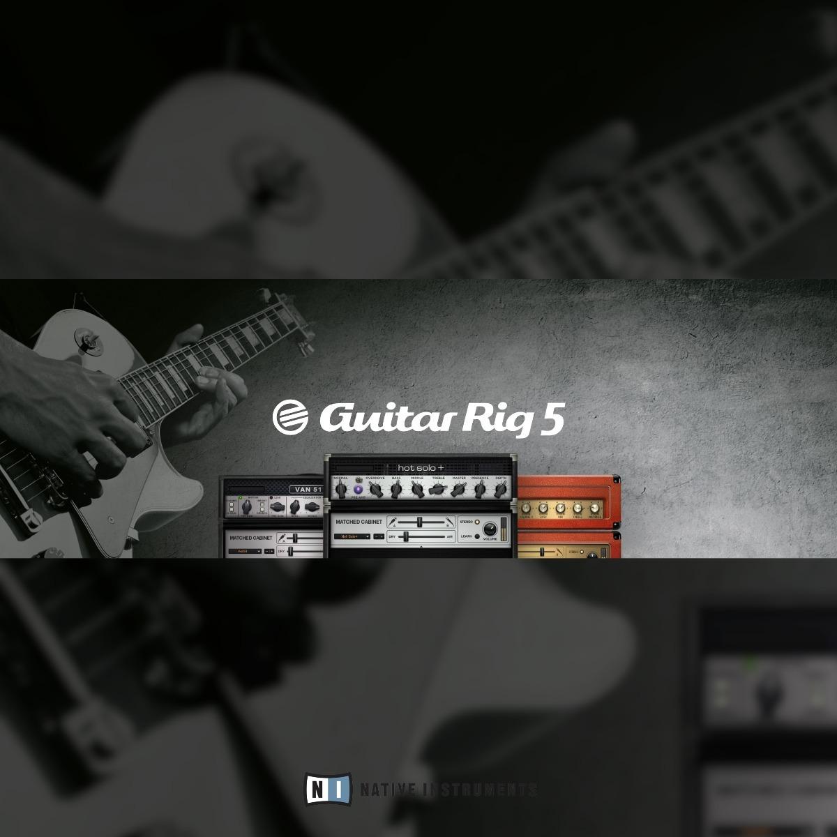 Guitar Rig 5 Pro + Instrumentos | Vst & Au Para Mac