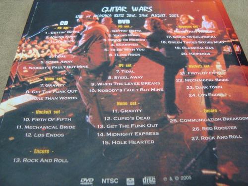 guitar wars  steve hackett   paul gilbert  cd + dvd