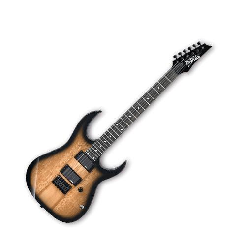 guitara eléctrica ibañez rg natural sombra grg121exsm ngt