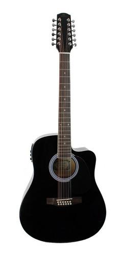 guitarra 12 cuerdas electroacustica segovia docerola afinado