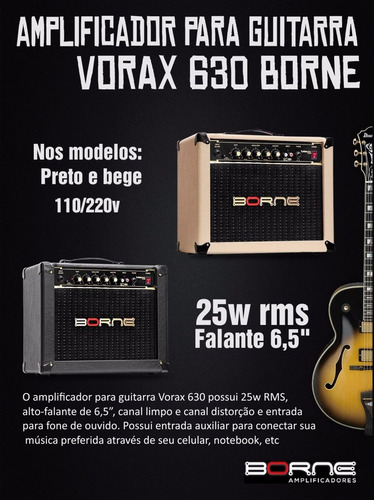 guitarra 25w amplificador borne