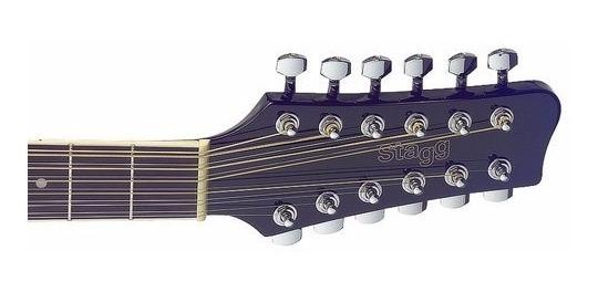 0c4000ff80a3 Guitarra Acústica 12 Cuerdas Jumbo Stagg Sa-40d Negro - S/ 579,00 en ...
