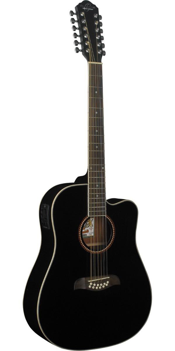 1114cbd8b238 guitarra acústica 12 cuerdas negro, oscar schmidt od312c. Cargando zoom.