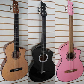 Guitarra Acústica Clásica+ Forro+ Método Pick+envío Gratis