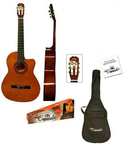 guitarra acústica clásica funda la española ( envío gratis )