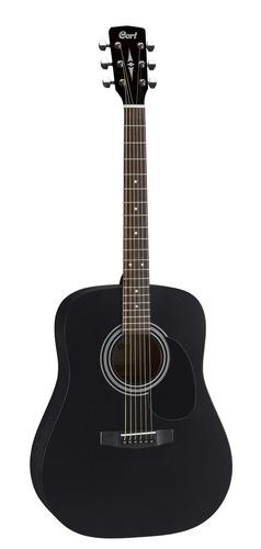 guitarra acústica cort 4/4 standar negro satinado en oferta