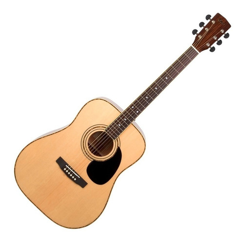 guitarra acústica cort ad880 natural con funda