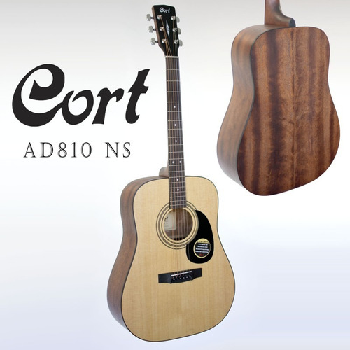 guitarra acustica cort  gratis forro.. nuevas de paquete