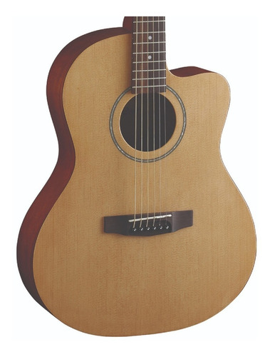 guitarra acustica cort jade1 open pore natural con estuche