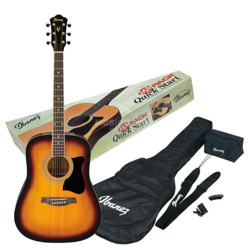 guitarra acústica country ibanez sunburst todo incluido !!