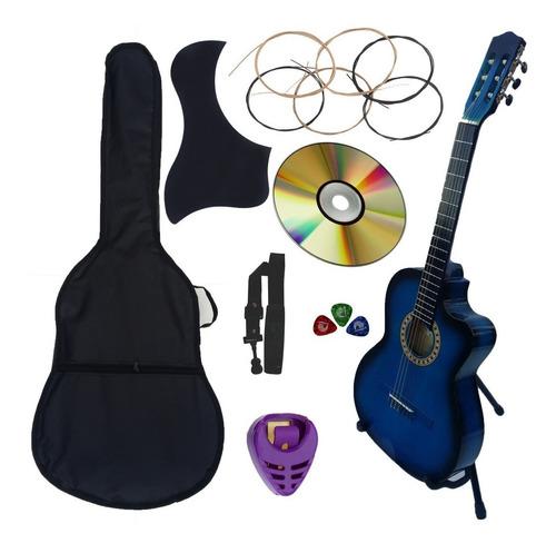 guitarra acustica curva nuevo paquete de accesorios completo