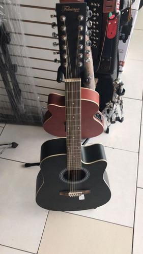guitarra acustica docerola 12cdas resaque negra mate fw1212c