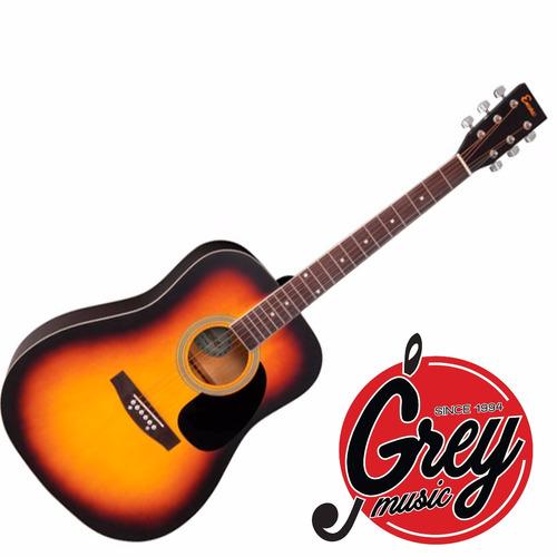 guitarra acústica encore ewp100sb folk,funda básica y correa