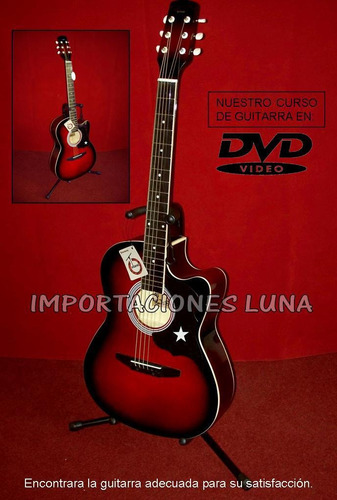 guitarra acustica importada, instrumento musical de lujo